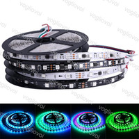 Wholesale led rgb digital magic strip for sale - Group buy LED Strip DC5V V V WS2813 SMD leds m leds m RGB LED Ribbon M Magic Dream Directionable Color Digital DHL