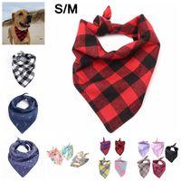 Wholesale small dog bandana collar for sale - Dog Plaid Scarf Bandanas S M Unicorn Pet Dog Cat Neck Scarf Tie Bowtie Necktie Bandana Collar Neckerchief Fashion Dog Apparel AAA1531