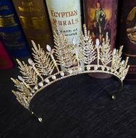 koreanisches einfaches hochzeitskleid großhandel-Neue Braut koreanische Strass Stirnband einfache Kristall große Kronprinzessin Haarschmuck Hochzeit Hochzeitskleid Zubehör