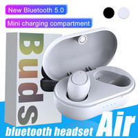 Wholesale wireless headphones mobile resale online - Portable Air TWS Bluetooth Earphone For Andriod Smart Mobile Devices Wireless Deep Bass Stereo Waterproof Headphones with Charging Box