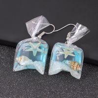 ingrosso il fascino del sacchetto coreano-Shellhard Novità Sea Grass Starfish Shell Water Bag Ciondola gli orecchini Gioielli da moda coreani unici eleganti per donna affascinante