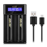 cargadores de baterias recargables nimh al por mayor-Pantalla de cargador de batería original Inlife Smart Cargador rápido recargable Ion de litio / NiMH / NiCd 18650/26650/21700/20700/18500 Envío gratuito XB