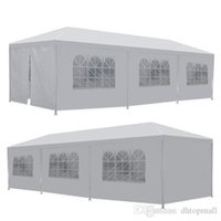 Wholesale events tent for sale - Group buy Ship from USA x Sides Doors Party Wedding Outdoor Patio Tent Canopy Heavy duty Gazebo Pavilion Event