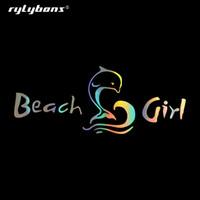 volle autoabziehbilder großhandel-rylybons Beautiful Beach Girl Aufkleber und Aufkleber Car-Styling für Autozubehör auf Windows Wall Body Full Body Car Sticker