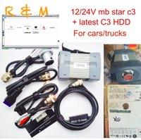 diagnóstico estrela mercedes venda por atacado-Melhor C3 Star Diagnóstico Mercede Ben 12 / 24V Tester MB C3 Star Scanners Ferramenta de Diagnóstico Oemscan Multiplexer Frete Grátis