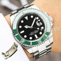 relógios mens venda por atacado-Slide Lock Luxury Green Ceramic Bezel New Men Mechanical SS 2813 Automatic Movement Watch Designer Sports Fashion men Watches Wistwatches