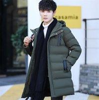 lüks ceketler erkekler toptan satış-Pamuk Elmas Hoodie Kış Ceket Aşağı Erkekler Lüks Kabarcık Puffer Coat Marka Kalite Basit Tasarım Dış Giyim Hendek Parkas Kalınlaştır