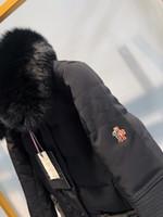 chaqueta de esqui xs al por mayor-Ropa de cuello para mujer Piel de zorro desmontable 2019 Chaqueta de esquí de manga larga para mujer Abrigo de invierno para mujer Abrigo con capucha Abrigos de abrigo Chaqueta de parka 31-16