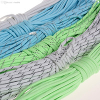 Wholesale paracord lanyard resale online - m Glow in the dark Reflective Luminous Lb Paracord Parachute Cord Lanyard Rope Strand Core