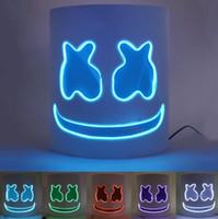 pvc props großhandel-Luminous DJ Mask Music Festival LED Helm-Masken-Halloween Cosplay Prop-Partei-Stab DJ Masken Eibisch Masken GGA2749