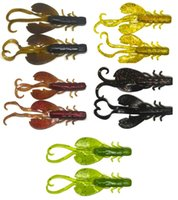 Wholesale new jig lures resale online - Largemouth Bass Fishing Lure Plastic Soft Speed Crawfish Shrimps Colors NEW