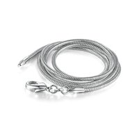 Wholesale long chain necklace for men resale online - MxGxFam inches x mm Long White Snake Chain For Women Men White Gold Color Fashion European Style