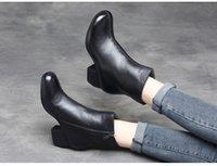 ingrosso maglie nere tacco grosso-B9 new Spring chunky mesh boot boots con tendenza scollata andare con stivaletto con gattino e stivali gladiatore con cerniera