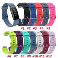 muñequeras de actividad al por mayor-Pulsera con correa de silicona para Fitbit Inspire / Inspire HR Activity Tracker Smartwatch Reloj de reemplazo Correa de muñeca
