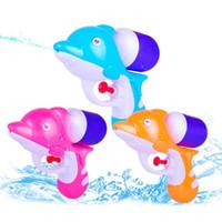 Wholesale toys robot gun for sale - Group buy Summer Dolphin Water Guns Outdoor Sand Playing Beach Sports Long Shooting Swimming Pool Pistol Blaster Spray water BB Gun Toys Airsoft gun