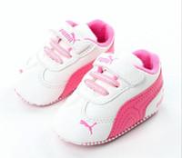 zapatos de niña primero caminante al por mayor-Nuevo Zapatillas deportivas de lona Zapatillas de deporte para niños recién nacidos, niños recién nacidos, niñas, niños pequeños Suela infantil, suela suave Prewalker para 0-18M