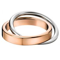 Wholesale two finger ring women for sale - Group buy Love Each Other Two Round Ring Sets S925 Sterling Silver k Rose Gold Finger Jewelry Men Women Engagement Couple Band Ring Accessories