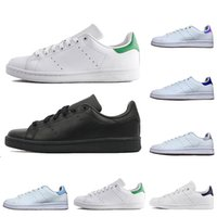 roter mann silber groihandel-Adidas Stan Smith men women casual shoes green black white blue red pink silver mens stan fashion leather shoe flats sneakers 36-45
