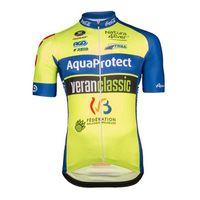 kurz schützen groihandel-Aqua Protect Veranclassic team Radsport-Kurzarmtrikot-Trägerhose für Herren setzt Maillot Culotte 3D-Gel-Pad U42423 ein