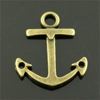 Wholesale antique bronze findings resale online - 100pcs Anchor Jewelry Finding Charms Anchor Charms Colors Antique Bronze Antique Silver Tone Anchor Pendant x23mm