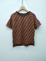 Wholesale quality womens size clothing for sale - 2019 Summer Womens Designer T Shirts Thin High Quality Luxury Casual Ice Silk Fabric Letter Tops Womens Designer Clothing Size S L