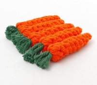 Wholesale woven cat toy resale online - New Carrot Dog Toys Cat Pet Cotton Imitate Braided Weaved Bone Rope Knot Toy Pet Teeth Resistant to bite Toys