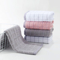 erwachsene tücher für groihandel-Baumwolltuch Paar Wipes Nudeln Haushalts weiche Absorbent Adult Wash Handtuch Small Square Haushalt Plaid Stripes Handtücher B