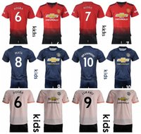 Youth Man United Jersey Kids Set 18 19 Soccer ALEXIS MATA YOUNG VALENCIA DE  GEA GOALIE Football Shirt Kits Uniform Champions League Children 17515d02f