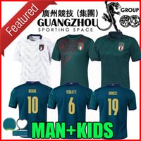 futebol italia venda por atacado-novos 2020 2021 Itália de Futebol terceiro AFASTADO BRANCO 20 21 Renaissance Italia camisas de futebol maglie Verratti Jorginho Romagnoli MAN + KIDS