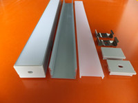 cubierta de perfil de tira de led al por mayor-Tira de tiras de LED de doble fila SMD3528 de envío gratuito con perfil de aluminio y difusor