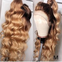 Wholesale color 1b 27 human hair resale online - Roselover Lace Front Human Hair Wigs b Colored Honey Blonde Ombre Remy Brazilian quot Preplucked Hairline Baby Hair