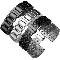 Wholesale magic straps for sale - Group buy Strainless steel watch band black and silver strap replacement metal belt Huawei watch GT Pro Honor dream Magic smart