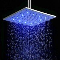 banho de chuveiro levou luz venda por atacado-Hot vender LED iluminado Bath Shower aspersão Pulverizador High Grade de bronze acabamento cromado Rainful Chuveiro Showerhead