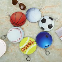 pochette enfants achat en gros de-Baseball Coin Sac PU Changer L'argent Sacs De Voyage Carte Poche Femmes Coin Embrayage Divers Sacs De Rangement enfants porte-clés Party Favor