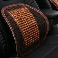 ingrosso cuscino sedile in tallone-Home Office Car Seat Chair Fresco sostegno per la schiena Cuscino perline in legno Massaggio