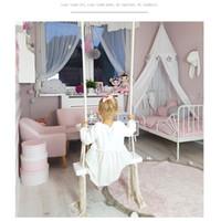 balançoires en bois achat en gros de-Balançoire intérieure Balançoire intérieure en bois pour enfants Décoration de chambre d'enfant créative Nouveaux jouets Chambre d'enfant balançoire