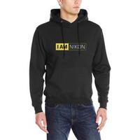 Wholesale o camera resale online - New I AM NIKON Camera Logo Men s Dry Blend Hooded Sweatshirt Size S XL