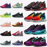spor ayakkabıları siyah toptan satış-nike air max 720 Yastık Koşu Ayakkabıları Sneakers WMNS Ayakkabı Eğitmenler Gelecek Serisi Erkekler Kadınlar Için Sunrise Jüpiter Kabin Venüs Panda Spor Tasarımcısı ayakkabı