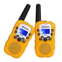 transceptor 3km al por mayor-Un par Retevis RT-388 Mini Walkie Talkie Radio para niños 0.5W 8 / 22CH Pantalla LCD Amateur Radio de dos vías Talkly Transceptor para niños