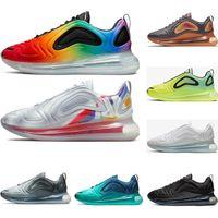 ingrosso designer scarpe online-Nike Air Max 720 Uomo Donna Running Shoes BE TRUE Yellow Triple Nero Bianco Hyper Blue Volt Uomo Designer Sneaker Sneaker Sport all'ingrosso online