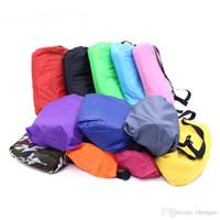 im freien faul tasche großhandel-11 Farben DHL Aufenthaltsraum-Schlafsack-faules aufblasbares Sofa-Stuhl, faules Taschen-Kissen des Wohnzimmers, im Freien selbst aufgeblasene faule Sofa Möbel