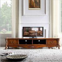 ingrosso mobili antichi in legno massiccio-di grandi dimensioni di vendita caldo nuovo arrivo antico salotto alto in legno massello in legno lcd TV stand o1137