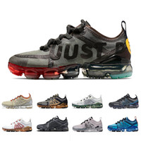 ingrosso sport di alluminio-NIKE Air Vapormax 2019 X CPFM X VPM JUST do it White Lime Vast Grey Volt Running Shoes Women Men PRM Oregon Aluminum Blue Bright Crimson Trainers Sports Sneakers 36-45