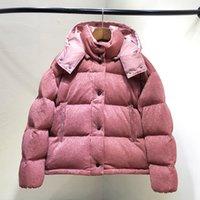 ingrosso rosa parkas-2018 NEW M5 donna Casual giù giacca con cappuccio corta di alta qualità bianco anatra inverno parka design inverno tuta sportiva di colore rosa lucido