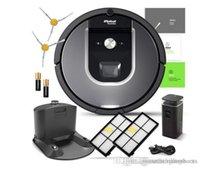 filtro de fabricantes venda por atacado-Real iRobot Roomba 960 Robotic Aspirador de pó Wi-Fi Conectividade Fabricantes Garantia Extra Sidebrush extra filtro Bundle tomada on-line