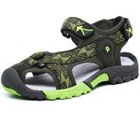 ingrosso ragazzi scarpe dita dei piedi-Puntale anti-collisione antiscivolo morbido estate bambini sandali scarpe ragazzi acqua scarpe in gomma da bambino all'aperto spiaggia ragazzo sandalo
