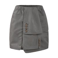 western-stil röcke großhandel-plus size western style fashion solid color knöpfe hohe taille 3XL-7XL große größe Elastische taille übergewichtige frau Casual rock