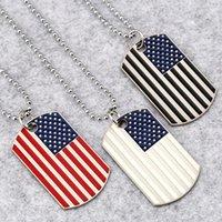 ingrosso punk bandiera americana-Moda Unisex Fashion Punk Style Stripes American Flag Collana a catena pendente Moda Nuova collana pendente
