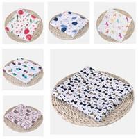 Wholesale design bedding resale online - Newborn Blanket Kids Muslin Cotton Girls Boys Cartoon Fox Animal Blanket Swaddle Wrap Blanket cm Designs Baby Bedding Accessories