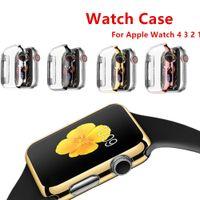 protector de pantalla apple watch 42mm al por mayor-Cubierta de la caja Para Apple Watch 4 3 Apple watch case correa de banda iwatch 42mm 38mm 44mm / 40mm protector de pantalla reloj Accesorios